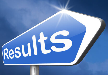 polls: test results and succeed business success be a winner in business elections pop poll or sports result test result business report election results Stock Photo