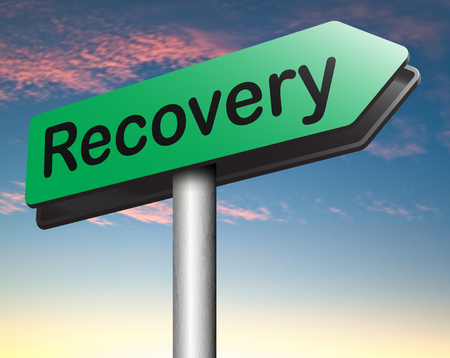 data recovery: Recovery recover total lost data or from crisis and recession road to full economic recovery