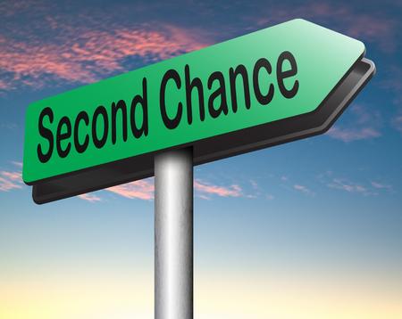 frisse start: tweede kans probeer het opnieuw een nieuwe frisse start of de gelegenheid te geven een laatste poging
