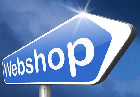 webshop: webshop road sign buy or sell at internet web shop online shopping e-commerce