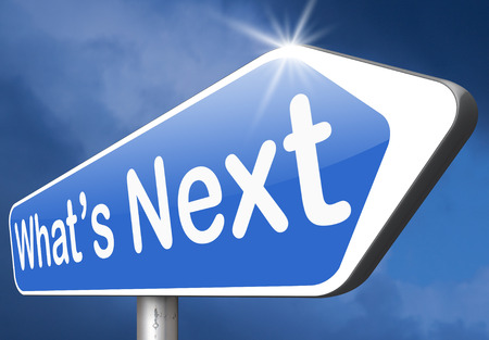 what is next step level or move what's now making a plan or planning ahead set your goal Stock Photo