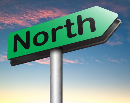north pole: north geographical compass direction north pole Stock Photo