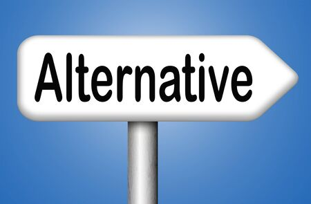 different goals: alternative choices, choose different options underground music or movement sign Stock Photo