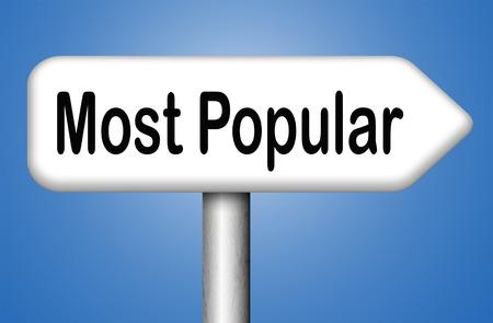 most popular: most popular road sign arrw Stock Photo