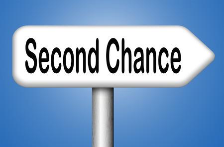 第 2 チャンスの新しい新鮮な開始または別の機会を与える最後の試み