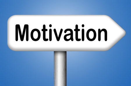 going for it: job or work motivaton motivate yourself write a recommandation letter, keep trying dont give up Stock Photo