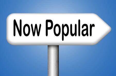 trending: now popular last fashion brand new trend trending prodict or activity Stock Photo
