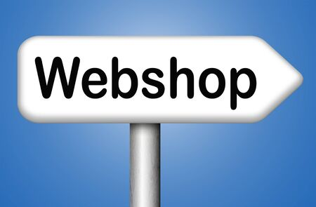 webshop: online shopping at internet webshop or store