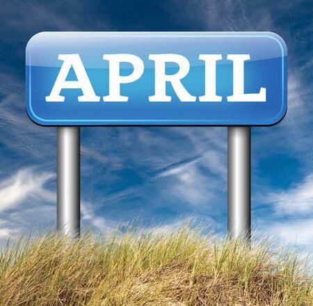 next year: april spring month event calendar schedule
