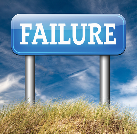 failing: failure fail exam road sign arrow or attempt can be bad especially when failing an important task or in your study failing an exam. You feel frustrated being a looser and disaster Stock Photo