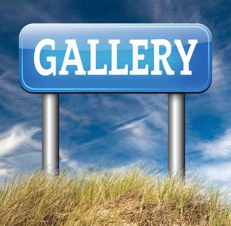 artictic: gallery art wall of picture photo and image Stock Photo