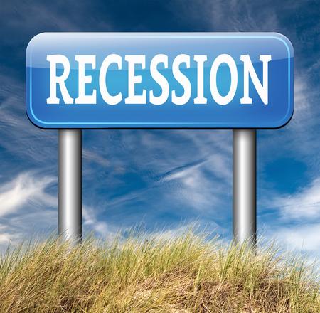 stock market crash: recession and stock market crash crisis bank economic and financial bank recession road sign Stock Photo