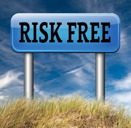 risk free: risk free buy best quality top product guarantee Stock Photo