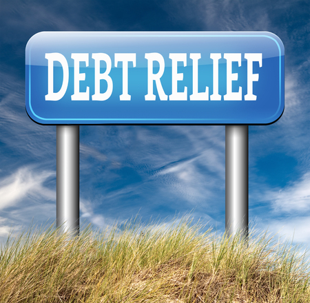 bank crisis: debt relief after bankruptcy caused by credit or housing bubbles restructuring finance after economic or bank crisis Stock Photo
