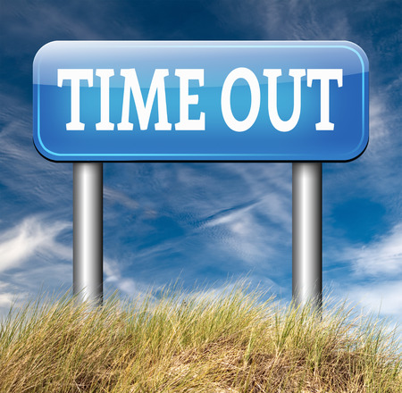 take time out: time out take a break from stress and work leisure time off relaxation taking a Holliday Stock Photo