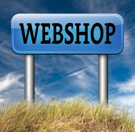 webshop: webshop road sign buy or sell online at web shop or internet store web shop shopping