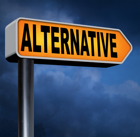 different goals: alternative choice, choose different or second option underground music or movement