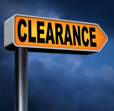 winter sales: clearance grand sale stock summer or winter sales final clearances Stock Photo