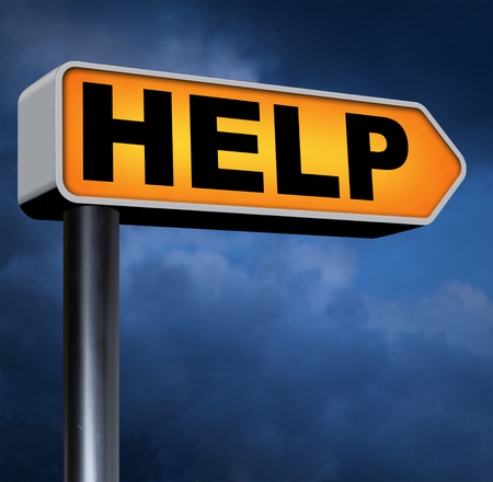 need help: need help or wanted helping hand assistance please or support desksearch and find online assistance Stock Photo