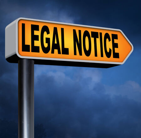 terms: legal notice with terms and conditions for use
