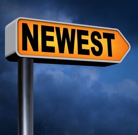 newest: newest and latest product model release hot news headlines new release Stock Photo