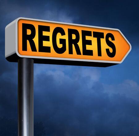 ashamed: regret or no regrets saying sorry and offer apologize being ashamed for bad decisions