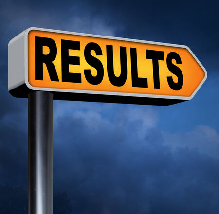 poll: results pop poll or sports result test result business report election results Stock Photo