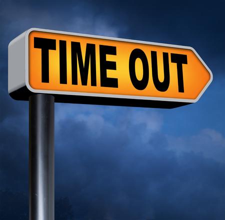 Zeit nehmen, eine Pause vom Stress und Arbeit Freizeit aus Entspannung, die ein Holliday