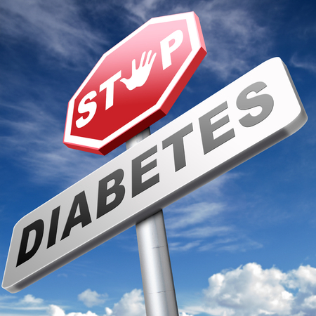 type 1 diabetes: stop diabetes eat less sugar go on a diet and eat healthy prevention Stock Photo
