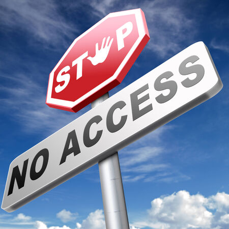 no access: no access stop password required no entrance denied authorized personnel only restricted area Stock Photo
