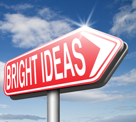 eureka: find bright idea in search of a solution great new brilliant ideas give a eureka moment be inspired and find inspiration for innovation road sign