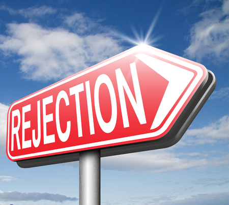 rejections: rejection letter for job vacancy or fear to get your visa rejected or a real good proposal they reject, maybe your love relation or friendship ends. Stock Photo