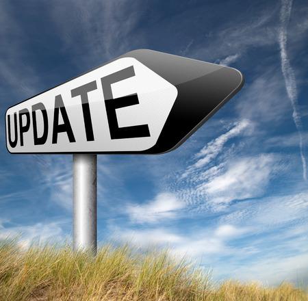 update: Update sign arrow Stock Photo