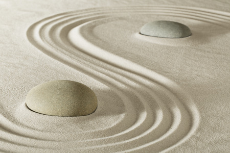 zen stone garden meditation rock for balance purity and serenity in relaxation. Tao buddhism, spa wellness treatment