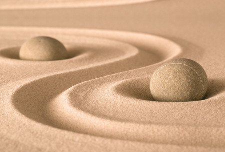 to and fro: spirituality stone and sand zen garden. Harmony balance and purity fro meditation and relaxation
