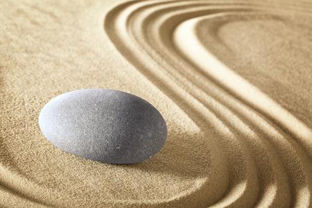 purity: zen meditation stone garden. Spa wellnes treatment background rock massage therapy. Serenity, harmony balance and purity.