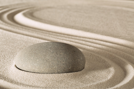 simplicity and serenity in Japanese zen garden concept for balance and concentration