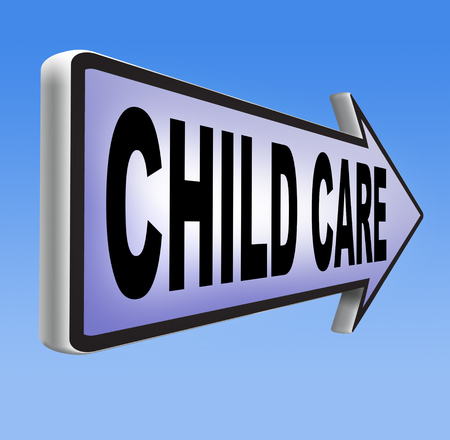 child protection: child care in daycare parenting or babysitting protection against child abuse