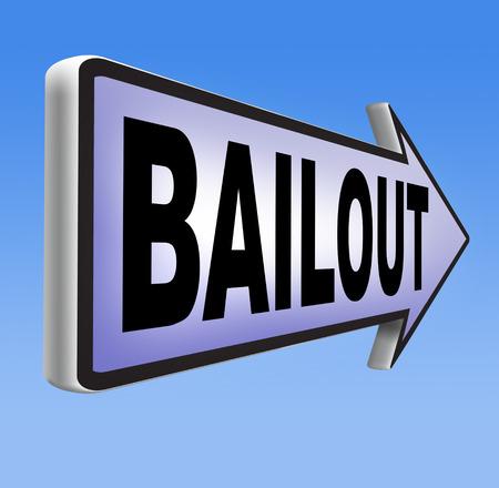 crisis economica: rescate o quiebra crisis econ�mica y la recesi�n financiera Foto de archivo