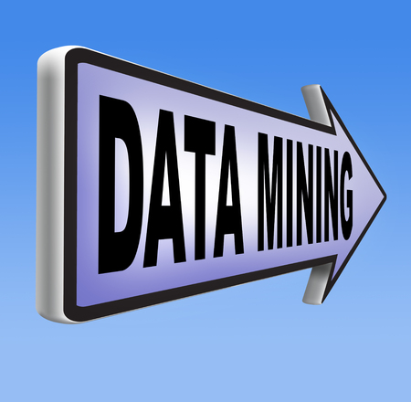 seach: data mining analysis and search big data for specific information and statistics Stock Photo