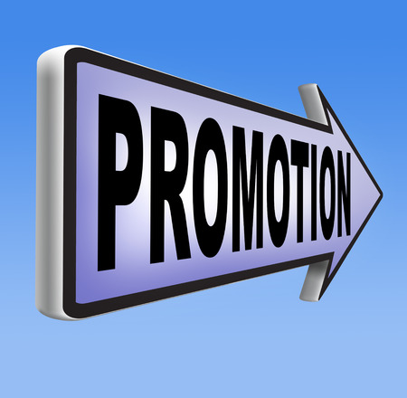 enhancement: job promotion or product sales promotion Stock Photo
