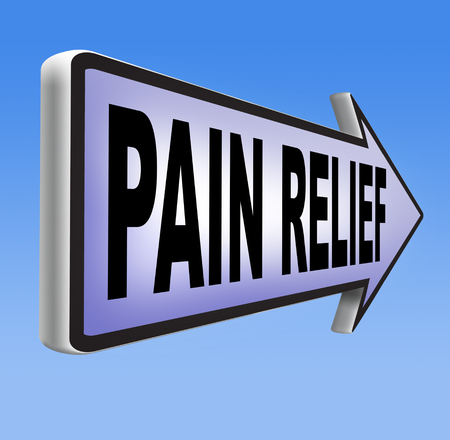 pain management: pain relief and management by painkiller for back pain or migraine