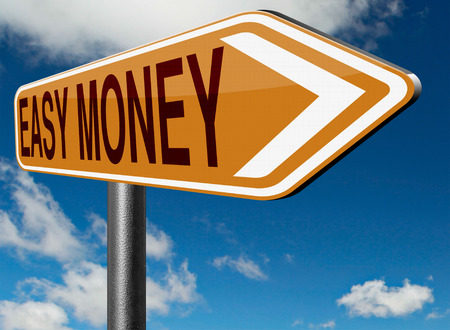 make money fast: fast easy money quick extra cash make a fortune online income road sign arrow Stock Photo