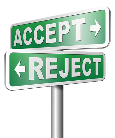 accept reject approve or decline Stock Photo