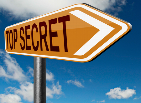 top secret file confidential and classified secrecy restricted information Stock Photo
