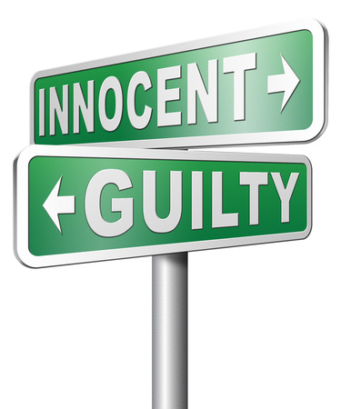 presumption: innocent or guilty presumption of innocence until proven guilt as charged in a fair trial for crime suspect