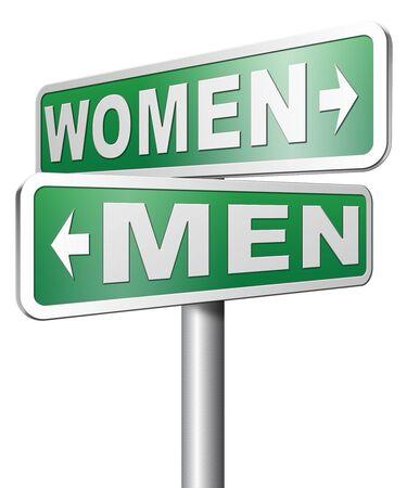 mannen en vrouwen: mannen vrouwen sekseverschillen Stockfoto