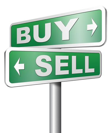 buy stock: buy or sell stock exchange during recession crisis or business market rise