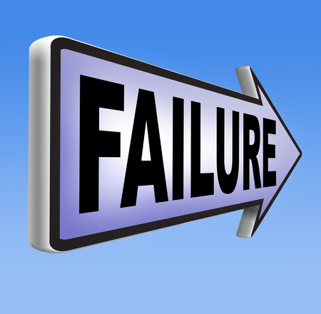 defeated: fail attempt exam or important test failure Stock Photo