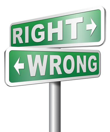 morally: right wrong answer decision morally good or bad
